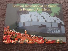 Marseille CPM Publicitaire Sur Le Thème De La Danse Ballet  Musique Festival International De Piano La Roque D'Antheron - Danse