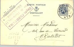 080310 LION 35c  [1929 ] - POSTAL CARD CHARLEROI//M1M>CHATELET [DEPOT CEBETAMA] - Postcards [1909-34]