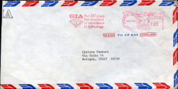 #1161 U.s.a. Red Meter Freistempel, 1981 Santa Monica, 50 Year Standard Excellent In Gemology,  Diamant, - Minéraux