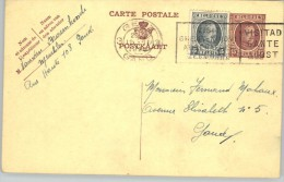 080313 HOUYOUX 15c W/ 5c -  [1927 ] - POSTAL CARD - 3GENT3 // GAND > GOUVY - Postcards [1909-34]
