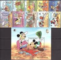 Walt Disney  MiNr. 1226 - 1237 (Block 181) Grenada/Grenadinen  MNH / ** / POSTFRISCH - Disney