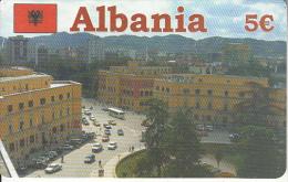 GREECE - Tirana/Albania, Amimex Prepaid Card 5 Euro, Used - Landscapes