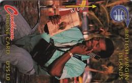 British Virgin Islands, BVI-3B, Man At Phone,  2 Scans.   3CBVB - Vierges (îles)