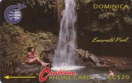 Dominica, DOM-3B, Emerald Pool, 2 Scans.   3CDMB  BSt - Dominica