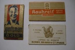3 Razor Blade Labels, Rasierklingen Labels - Razor Blades
