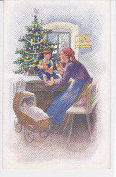 CARD BUON NATALE   MAMMA BIMBO ALBERO DI NATALE  -FP-N-2-0882-21703 - Noël