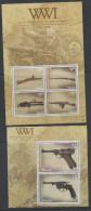 PALAU ,2014, MNH, WWI, WEAPONS OF  WWI, GUNS, SHEETLET+S/SHEET - WW1