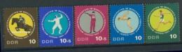 BL1-302 DDR, EAST GERMANY 1965 MI 1133-1137 SPORT, WORLD CHAMPIONSHIP PENTHATLON. MNH, POSTFRIS, NEUF**. - Schermen