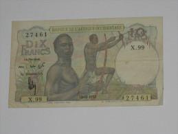 10 Francs 1953 - Banque De L´Afrique Occidentale **** EN ACHAT IMMEDIAT **** - Banconote