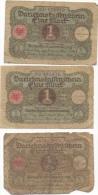 3 Billets 1 Mark 1 Er Mars 1920 Darlehnetassensceim Reichsbanknote 23.128069 32.401972 46.691365 - [ 3] 1918-1933 : Weimar Republic