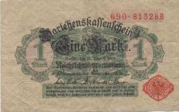 Billet 1 Mark 12 Aout 1914 Berlin Darlehenskaffenschein 690.813288 - [ 2] 1871-1918 : German Empire