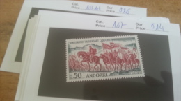 LOT 226077 TIMBRE DE ANDORRE NEUF* N�167 VALEUR 14 EUROS
