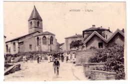 Attigny - L'église   - Scan Recto-verso - Frankreich