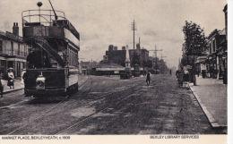 BEXLEYHEATH  MARKET PLACE . TRAM. REPRINT - London Suburbs