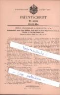 Original Patent - Georg Adam Heller In Liebenstein, S.-M. , 1902 , Vorhängeschloß !!! - Historical Documents