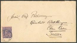 N°48 - 25 Centimes Bleu Sur Rose Obl. Sc HEYTS-SUR-MER Sur Enveloppe Du 29 Septembre 1890 Vers Walkringen (canton De Ber - 1884-1891 Leopold II