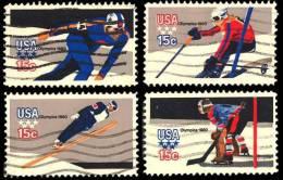 Etats-Unis / United States (Scott No.1795-98 - Olympiques Hiver / Winter Olympics 1979) (o) Série De 4 / Set Of 4 - Gebraucht