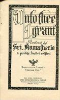 ´UNTO THEE I GRANT´ AUTHOR SRI.RAMATHERIO EDIT. THE ROSICRUCIAN PRESS VOL 5 YEAR 1925 PAG.146 USED GECKO. - Espiritualismo