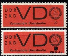 Dienstmarke ZKD Ausgabe D 1966 DDR 3x Plus 3 Mit AD 4a ** 28€ Seltener Aufdruck Für Neue Briefe Service Stamp Of Germany - Service