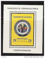 "M265.-.COLOMBIA / KOLUMBIEN.- 1962 .- MICHEL #: BLOCK 26 - "" O.E.A. "" .- MNH.-  FLAGS / BANDERAS.- - Stamps"