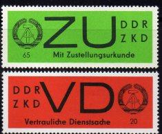 Dienstmarke ZKD 1966 DDR VD 3 Y Plus ZU 2 Y ** 5€ Gestrichenes Papier Für Geheime Dienstbriefe Service Stamp Of Germany - Service