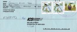 Botswana 1997 Mi. 633 643 On Registered Cover 5-Apr-2000, Marico Sunbird Nectarinia Mariquensis, Whydah Vidua Regia - Botswana (1966-...)