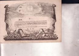 GAND Mathilde De GHELLINCK Morte En 1840 Doodbericht Avis Mortuaire Noblesse Adel Doodsbrief - Todesanzeige