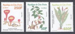 Cote Ivoire - Ivory Coast  (2013)   /  Flowers - Flores - Fleurs - Blumen - Vegetales