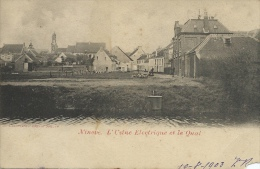 Ninove - L'Usine Electrique Et Le Quai - 1903 ( Verso Zien) - Ninove