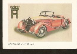 Latvia Riga LSSR USSR 1987 CAR HORCH-930 V 1939  AUTO Automobile - Calendriers