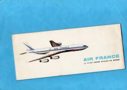 """Livret D'accueil Complet """"AIR FRANCE"""" 20 Pages Dont  Une Carte Postale Détachable-le Parc  De Watteau - Aviation"""