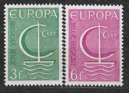 Europa Cept 1966 Belgium 2v ** Mnh (LT611) - 1966