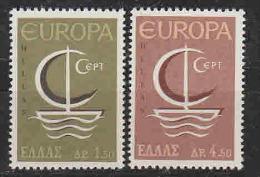 Europa Cept 1966 Greece 2v ** Mnh (LT613) - 1966