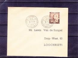 U.P.U. - Timbres Sur Timbres - Belgique - Lettre De  1949 ° - Oblitération Centenaire Des Premiers Timbres Belges - Belgio