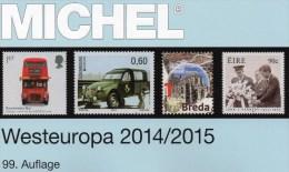 Westeuropa Katalog 2015 Neu 62€ MICHEL EUROPA Band 6 Belgien Irland Luxemburg Niederland UK GB Jersey Guernsey Man Wales - Postcards