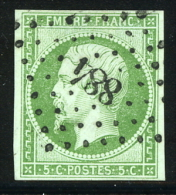 N°12 - Obl PC 884 - Signé Robineau - TB - 1853-1860 Napoléon III