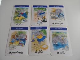 6 cartes  ELEPHANT