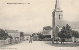 SAINT AUBIN DE LOCQUENAY - 72- LA PLACE - ATTELAGE - France