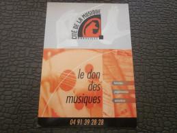 Marseille Le Don Des Musiques  CPM Publicitaire Publicité Cité De La Musique - Music And Musicians