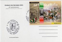 Italia 2012 Fertilia (SS) Giorno Del Ricordo 65° Anniv. Arrivo Dei Profughi Istriani - Geschiedenis