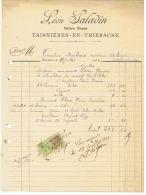 MAITRE MACON  LEON DALADIN à TAISNIERES - EN - THIERACHE 1923 - France