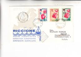 BULGARIEN, 1963, FDC Michel 1391-1393 Riccione Briefmarkenausstellung - FDC
