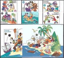 Walt Disney  MiNr. 2120 - 2127 (Block 333) Grenada/Grenadinen  MNH / ** / POSTFRISCH - Disney