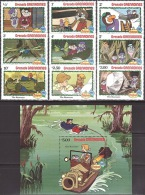 Walt Disney  MiNr. 529 - 538 (Block 70) Grenada/Grenadinen MNH / ** / POSTFRISCH - Disney