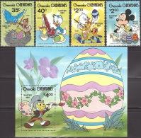 Walt Disney  MiNr. 437 - 441 (Block 54) Grenada/Grenadinen  MNH / ** / POSTFRISCH - Disney