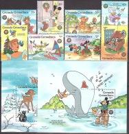 Walt Disney  MiNr. 802 - 811 (Block 117) Grenada/Grenadinen  MNH / ** / POSTFRISCH - Disney