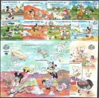 Walt Disney  MiNr. 1051 - 1060 (Block 158) Grenada/Grenadinen  MNH / ** / POSTFRISCH - Disney