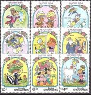 Walt Disney  MiNr. 590 - 598 Grenada/Grenadinen  MNH / ** / POSTFRISCH - Disney