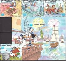 Walt Disney  MiNr. 762 - 766 (Block 109) Grenada/Grenadinen  MNH / ** / POSTFRISCH - Disney