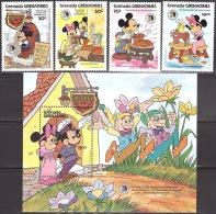 Walt Disney  MiNr. 726 - 730 (Block 102) Grenada/Grenadinen  MNH / ** / POSTFRISCH - Disney